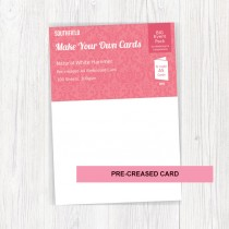 A4 Creased White Hammer Cards (100)