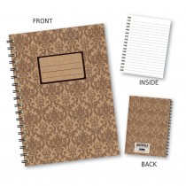Brown Patterned Wiro Notebook