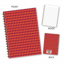 Red Tartan Wiro Notebook