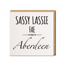Sassy Lassie Greeting Card
