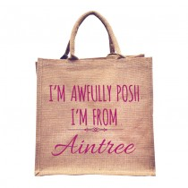 Awfully Posh From Natural Jute +Tag (Pink)