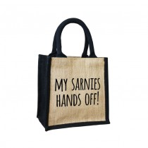 Sarnies-Hands off Cute Jute Bag