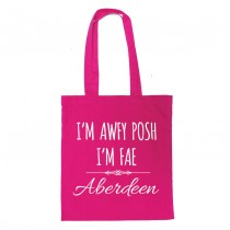 Awfy Posh Pink Shopper (white)