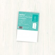 C6 White Envelopes (50)