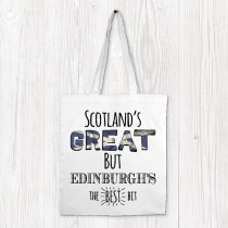 Scotlands Great White Printed Bags & Tag