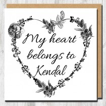 My Heart Belongs Greeting Card