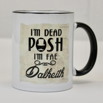Sir Posh Black Handled Mug