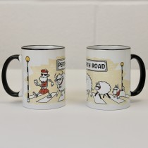 Abbey Rd Black Handled Mug