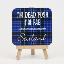 Coaste -Tartan Posh Blue Background