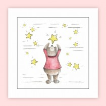 Falling Star Square Giclee Print