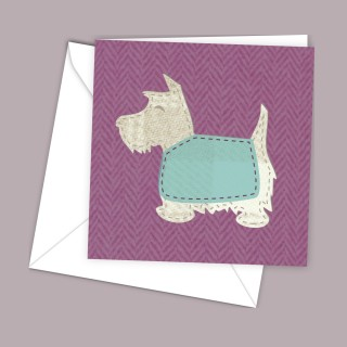 Scottie Pink Greeting Card product image