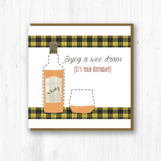 Wee Dram Brithday Card product image