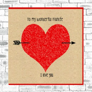 Eco Love You Card-Fiancee product image