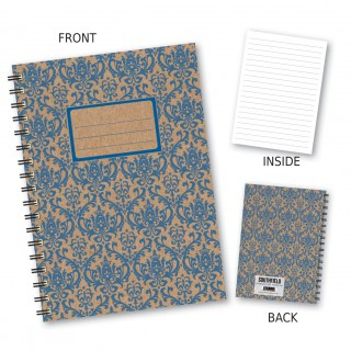 Blue Patterned Wiro Notebook product image