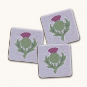 Thistle Light Gloss Coaster