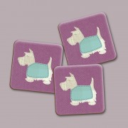 Scottie Pink Gloss Coaster