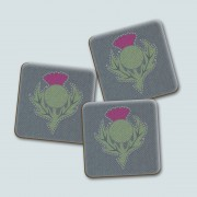 Thistle Dark Gloss Coaster