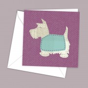 Scottie Pink Greeting Card