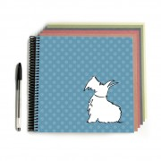 Scottie Dog Scrapbook Blue