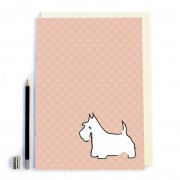 Peach Spot/Dog Notebook