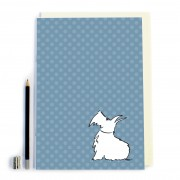 Blue Spot/Dog Notebook