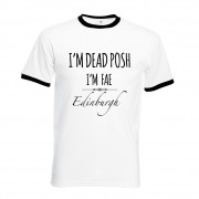 Dead Posh Printed T-Shirt Black trim+Tag