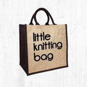 Little Knitting Jute Bag
